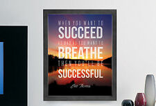 """Eric Thomas """"Sucess"""" Inspirational Quote Poster Print Illustration Typography"""