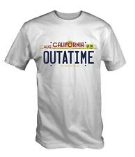 Outatime Number Plate T Shirt Tee Tshirt Future back to the retro 80's marty doc