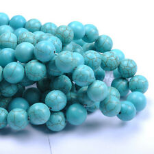 lots TURQUOISE Round Charms Loose Spacer BEADS - Choose 6MM 8MM 10MM 12MM 14MM