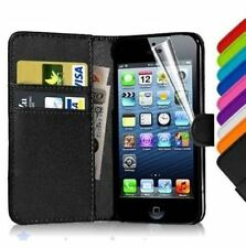 Flip Leather Wallet Case Cover For Apple iPhone 4 4S FREE Screen Protector