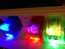 LED FLASH LIGHT 2A WALL HOME USB A/C CHARGER power FOR Apple iphone 4s 5s ipod