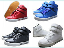 Men's Korean Style Casual Shoes The High-top Magic Buckle Walking Sneakers