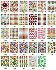 #384S Floral Flower Garden Insect Reward Deco Craft Card Scrapbooking Stickers