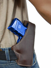 New Barsony Brown Leather Pancake Gun Holster for Colt, Kimber Compact 9mm 40 45