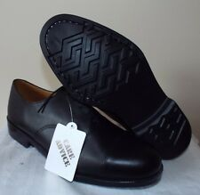 BLACK LEATHER PARADE SHOES - BRAND NEW - SIZES - BRITISH ARMY ISSUE - CADETS