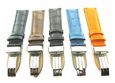 17-18-19-20-21-22-23-24MM LEATHER BAND STRAP DEPLOYMENT CLASP FOR BREITLING #1A