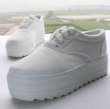 new 2014 Low platform women canvas shoes casual sneakers lace up female shoes
