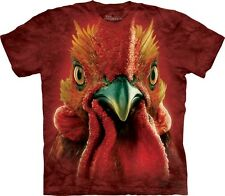 Big Face Rooster Head T-Shirt by The Mountain. Giant Head Farm Animal S-5XL NEW