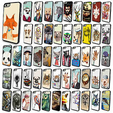 Wholesale New Various Cute Animals Case Cover Skin for Apple iPhone4 4S 5 5S 5C
