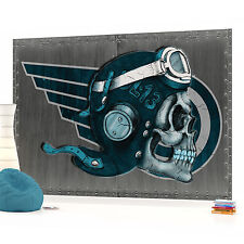 Skull Aviator 2 Photo Wallpaper Wall Mural (CN-1349VE)