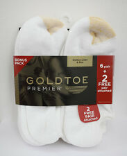 Gold Toe Men's Athletic Cotton No Show Low Cut Socks White or Black 4 or 8 Pairs