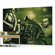Green Jazz Music Photo Wallpaper Wall Mural (CN-251VE)