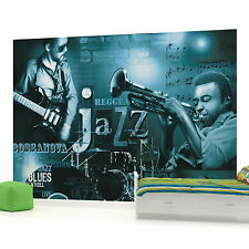 Blue Jazz Music Photo Wallpaper Wall Mural (CN-252VE)