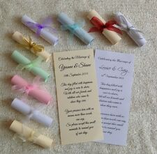 50 Wedding Favours Favors - Thank You Scrolls