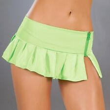 New 5002 Hot Green Sexy PLEATED DANCE Wear ROLLER MICRO MINI SKIRT RAVE S M L