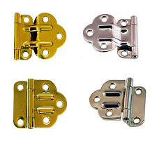 McDOUGALL STYLE OFFSET CABINET HINGE, 2 Styles, Polished Brass or Nickel Plated