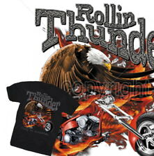 Rollin Thunder Chopper T-Shirt Rocker Biker US America Harley Eagle Gr.S-XL