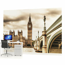 London Houses of Parliament Sepia Photo Wallpaper Wall Mural (CN-843VE)