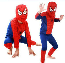 1 Set Halloween Costume Party Clothes Kids Spider Man Suit S/M/L Size 3-10yrs