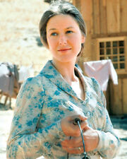 LITTLE HOUSE ON THE PRAIRIE K GRASSLE CARRYING BUCKET FLOWERED DRESS PHOTO OR PO