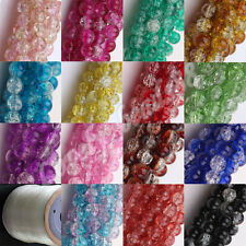 Vogue Fashion Czech Glass Crackle Cracked Loose Spacer Round Crafts Beads 6-12MM