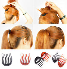 2 usages Bouffant Hair Clip Volume Inserts Ponytail Hair Bun Make Fork comb One
