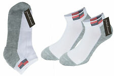 Sports Trainers Socks Sneakers Trainers Footlets For Men In 12pc Pack White Grey