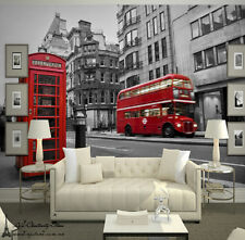 3D Large European Bus Wall Paper Wall Print Decal Wall Deco wall Mural Home Kids