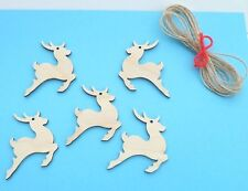CHRISTMAS REINDEER WOODEN GIFT TAGS/ TREE DECORATIONS#