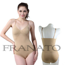 New! Full Bodysuit Seamless Shapewear Body Shaper As Franato Nude Colors S-XXL