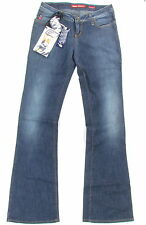 """MISS SIXTY """"Extra Low Ty"""" womens flared jeans pants wide leg (navy) NEW"""