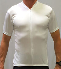 BLANK WHITE CUSTOM CYCLING CYCLE BIKE JERSEY / SUBLIMATION