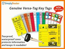 Genuine Versa-Tag Key Tags With Rings 250 Laminated KeyTags per box