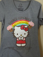 Hello Kitty Gray (Kitty Double CUPCAKES What Does it Mean) T-shirt