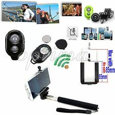 Bluetooth Shutter +Handheld Monopod +Holder for Samsung Galaxy S5 4 Note 3 2 1