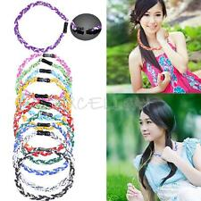 Titanium Ionic Sports Baseball Necklace 3-Rope Braided Necklace 4 Size E0Xc