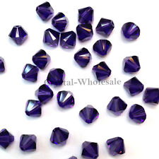 4mm Purple Velvet (277) Genuine Swarovski crystal 5328 / 5301 Bicone Beads