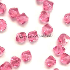4mm Rose (209) Genuine Swarovski crystal 5328 / 5301 Loose Bicone Beads