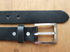 NEW ANTI-ALLERGY TITANIUM BUCKLE WITH LEATHER BELT