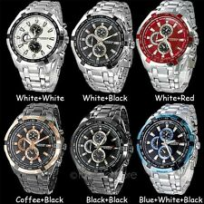 Fashion Mens Watches Quartz Stainless Steel Analog Sports Wrist Watch New