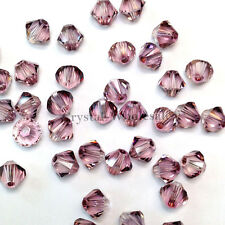5mm Crystal Antique Pink Genuine Swarovski crystal 5328 / 5301 Loose Bicone Bead