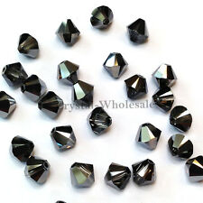 5mm Crystal Silver Night Genuine Swarovski crystal 5328 / 5301 Bicone Beads