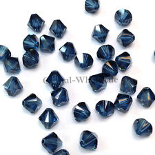 5mm Montana (207) Genuine Swarovski crystal 5328 / 5301 Loose Bicone Beads
