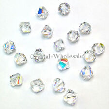 6mm Crystal AB (001 AB) Genuine Swarovski crystal 5328 / 5301 Loose Bicone Beads