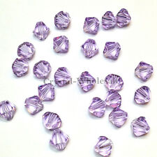 6mm Violet (371) Genuine Swarovski crystal 5328 / 5301 Loose Bicone Beads