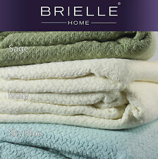 Brielle Nimbus 100% Cotton Ringspun Blanket NEW