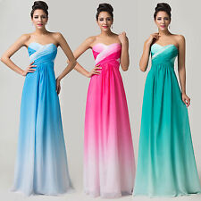Charming Long Maxi Bridesmaid Wedding Evening Prom Dresses Pageant Dress In 2~16