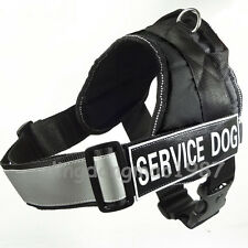 Service Dog Padded Vest Pulling Training Harness Handle Reflective Safety Strap
