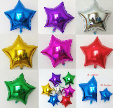 "10""/18""inch Foil Star Balloon Helium Metallic Wedding Birthday Valentine Party"