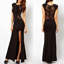 Sexy Trendy Elegant Women Slim Long Maxi lace Gown Evening Cocktail Party Dress